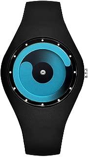 Tidoo Men's Women's Personalized Bracelet Watch Sport Style Wrist Waterproof Quartz Movement Watch with Rubber Band