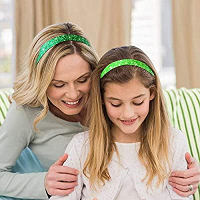 6 Pcs Shamrock Headband Irish St Patricks Hairbands Accessories Gifts St. Patrick's Day DecorationsFor Women Kids Green