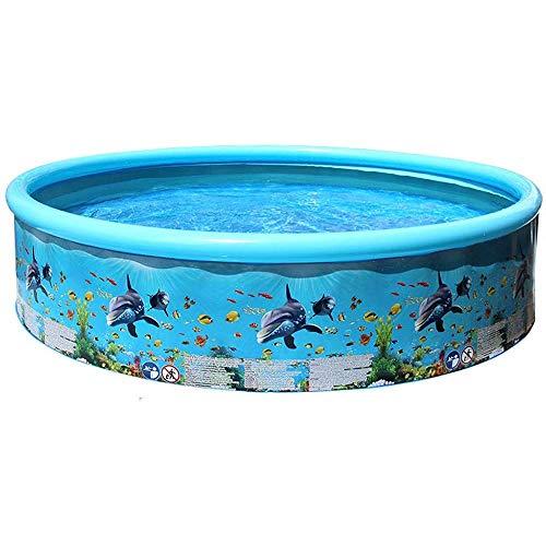 Bermnn, piscina hinchable 49 pulgadas de verano piscina inflable, Inyección de agua del patio trasero plegable Jardín for niños y adultos, Inflable espesado Piscina for niños Piscina infantil plegable
