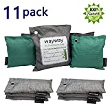 Bamboo Charcoal Bags 11 Pack Activated Charcoal Bag for Home, Kitchen, Car, Closet, Shoes, Basement, Bathroom, Pet (1X500g,4X200g,6X75g)