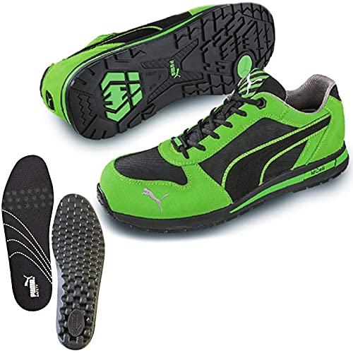 [プーマ] 安全靴 エアツイスト 26.5cm グリーン 中敷き インソール付セット 64.322.0