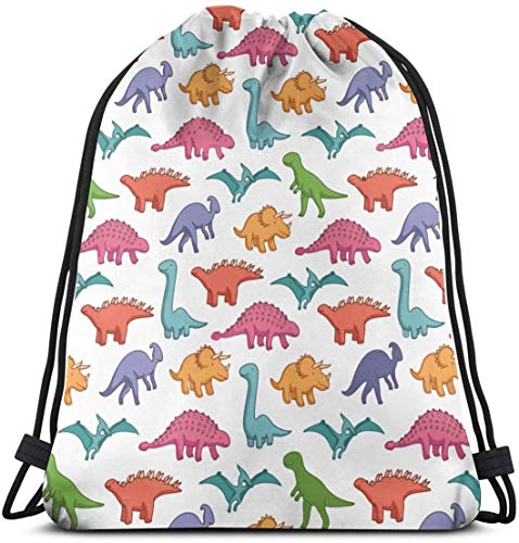 Bolsas con cordón para dinosaurios, mochila grande para niños y adolescentes, suministros reutilizables y bolsa de almacenamiento de regalo, mochila de hombro duradera para estudiantes