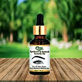 Quat 100% natural Eyebrow & Eyelash Growth Serum - (With Castor Oil, 100% Pure and Natural Oils), 30 ml