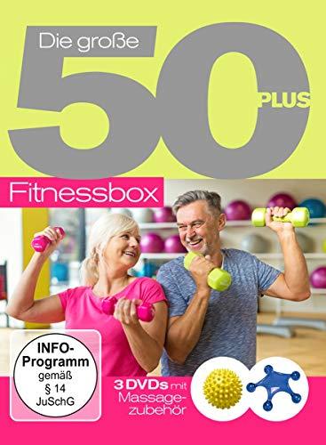 Die Große 50+Fitnessbox mit Massagezubehör [3 DVDs]