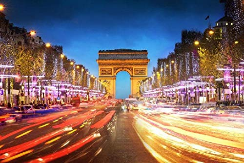 YFJSPTH Puzzle 1000 Teile 2020 Puzzle, Puzzle for Adults, Impossible Puzzle, Colourful Puzzle Game, Skill Game for The Whole Family-Parigi Arc de Triomphe
