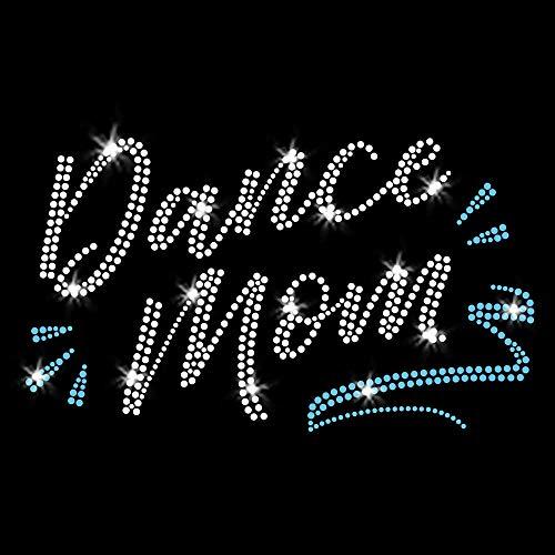 Dance Mom Iron-on Rhinestone Transfers for T-Shirts by JCS...