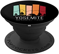 Yosemite National Park Retro Half Dome El Capitan Camping Ca PopSockets Grip and Stand for Phones and Tablets