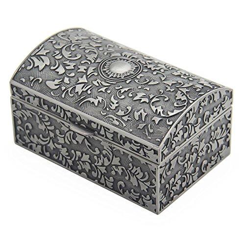 AVESON - Joyero rectangular de metal vintage, caja de regalo