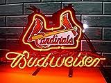 Desung 20'x16' Budweisers St. Louis ST-Sports Team Cardinal Neon Sign (VariousSizes) Beer Bar Pub Man Cave Glass Light Lamp BW08