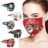 Weihnachten 50 Stück Einweg Erwachsene Mundschutz,Einfarbig 3 lagig Bandana Mund und Nasenschutz Einmal Bunt MNS Halstuch Maske Tücher Staubdicht Atmungsaktiv Multifunktionstuch