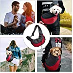 MaoXinTek Pet Sling Carrier Bag, Safe Dog Slings Backpack for Small Puppy Cat 2.5kg/5.5LB Breathable Mesh Travel Carrier Pouch, Shoulder Cross body Bag Hand Free for Outdoor Walking Subway 10