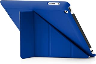 Pipetto Origami iPad Case 2/3/4 Generation with 5 in 1 Stand & auto Sleep/Wake Function Royal Blue