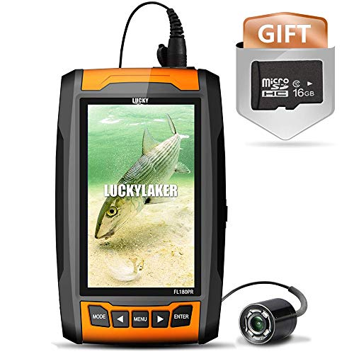 LUCKYLAKER LCD Display Fishing Underwater Camera Fish Finder Cameras Fishing Underwater Video Monitor Infrared Lights for Boat Kayak Sea Fishing