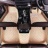 HIZH Alfombrillas Personalizadas para el automóvil para Jaguar F-Pace 16-19 Todo el Revestimiento del Piso Completamente rodeado Impermeable Antideslizante Alfombrilla Trasera Delantera, Beige, ,
