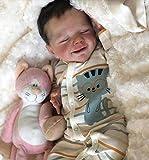 Rebirth Baby Doll 18 Pulgadas / 46cm Silicona Suave Realista Durmiente Recién Nacido Bebé Juguete,Boy