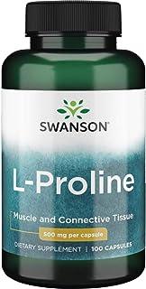 Swanson Amino Acid L-Proline Dietary Supplement 500 mg 100 Capsules (Caps)