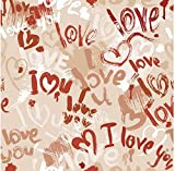 Wall Mural Paper Ceiling 3D Tiles HD Image TV Backdrop Romantic doodle Embossed Custom Gift Abstract...
