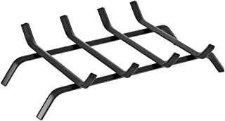 Black Wrought Iron Fireplace Log Grate 18 inch Wide Heavy Duty Solid Steel Indoor Chimney Hearth Bar Fire Grates for Outdoor Fire Place Kindling Tools Pit Wood Stove Firewood Burning Rack Holder