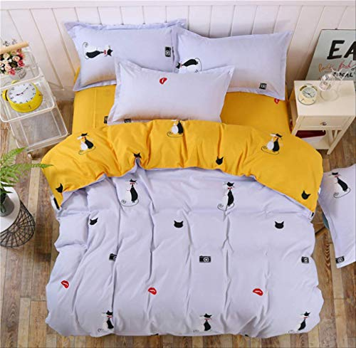 WGLG Juego de funda de edredón y fundas de almohada, diseño de dinosaurios de dibujos animados, juego de ropa de cama para niños y adultos