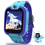 Kids Smart Watch for Boys Girls, (Pink, Black,Yellow,Blue), Phone Call Games Music Camera