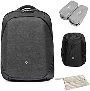 ClickPack Backpack Design by Korin,Business Laptop Backpacks Anti thief Travel Bag fits up to 15.4 Inch Macbook (Full Version, Black)