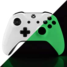 eXtremeRate Glow in The Dark Faceplate Cover Case, Front Housing Shell Replacement Kit for Xbox One S & Xbox One X Controller (Model 1708)