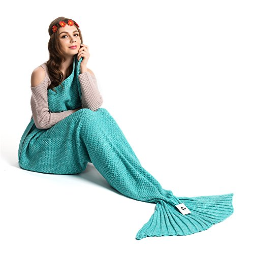 Kpblis Warm and Soft Mermaid Tail Blanket diffenrent Colors Mermaid Blanket for Kids and Adult...