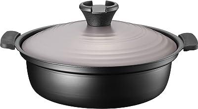 和平フレイズ 卓上鍋 22cm 7号 2~3人用 軽い 土鍋風 洗いやすい ふっ素樹脂加工 IH・ガス対応 匠丈膳 RB-1691