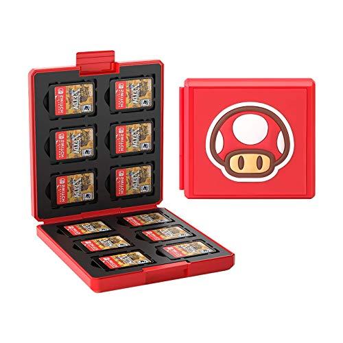 YYDYQR - Estuche para Tarjetas de Juego para Nintendo Switch, Soporte de Cartucho Protector a Prueba de Golpes, Estuche de Almacenamiento con 12 Ranuras
