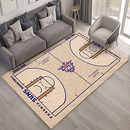 YAN Teppich NBA Basketball Wohnzimmer Schlafzimmer Sofa Tisch Und Stühle Feuchtigkeitsbeständige Teppichunterlage Halle Küche Gang Badezimmer rutschfeste Mode Hellgelber Teppich 140 * 200Cm