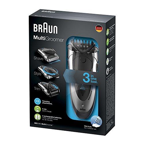Braun Multigroomer MG5090, Bartschneider, Rasierer und Trimmer, schwarz