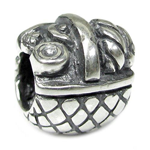 Queenberry Charm-Anhänger Picknickkorb Sterling-Silber 925 europäischer Stil