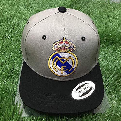 Equipo de Fútbol Europeo Fans Sombreros de Regalo Gorras de Béisbol Casuales Sombreros para el Sol Al Aire Libre, Bayern Munich, Talla Única, S-C, Real Madrid gris, un tamaño