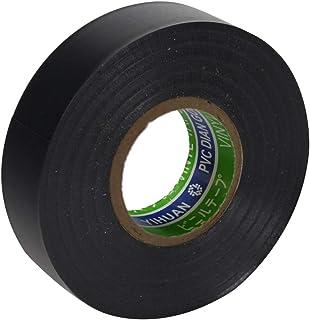 電気絶縁用ビニルテープ 耐熱・耐寒・難燃 電気絶縁テープ ブラック 19mm×20m 1個入
