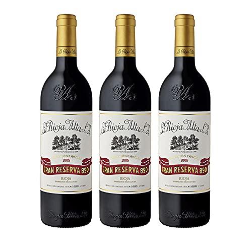 Vino tinto Gran Reserva 890 de 75 cl - D.O. La Rioja - Bodegas La Rioja Alta (Pack de 3 botellas)
