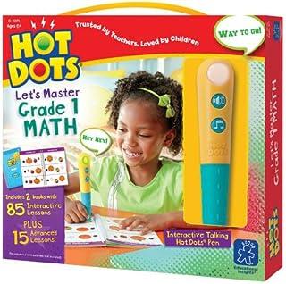 Educational Insights Hot Dots Let's Master 1st Grade Math Set, Homeschool, 2 Books & Interactive Pen, 100 Math Lessons, Ag...