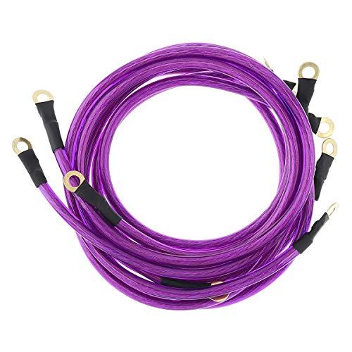Lianlili Universal Car Trounk Cables Auto Booster Jumper Sistema de conexión a Tierra Kit para Mejorar el Poder para los Autos SUV Auto (Color : Purple)
