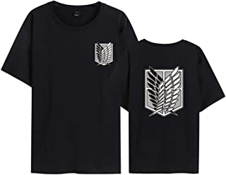 Camiseta Attack On Titan, Camiseta Anime 3D Shingeki No Kyojin Scout Regiment Anime Cosplay T-Shirt Casual Manga Corta Cam...
