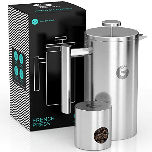 Coffee Gator French Press Coffee Maker- Insulated, Stainless...