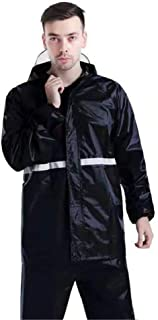 Snow Rainwear Waterproof Jacket Reflective Raincoat Road Outdoor Raincoat Multifunction Outdoor Cycling (Color : Black, Si...