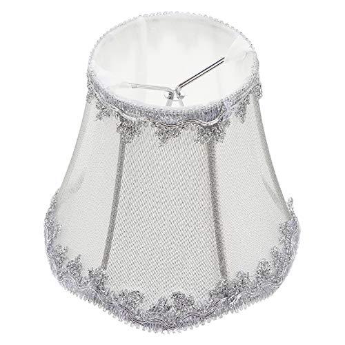 SOLUSTRE Lámpara Vintage de Tela de Pantalla con Forma de Campana Real Reemplazo de Pantalla de Lámpara Decorativa Accesorios para Lámpara de Mesa Lámpara de Pie Luz de Pared