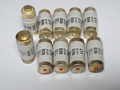 REV Ritter 0515067555 Sicherung D02/E18 63 A träge, 10 Stück