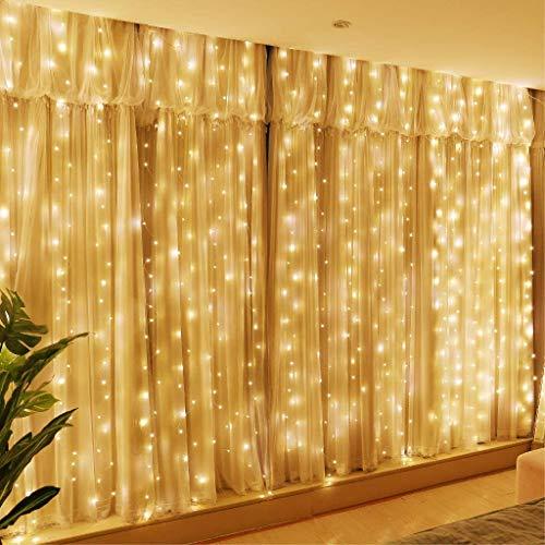 Rehao Tenda Luminosa, Luci Stringa 300 LEDs Illuminazione Giardino con Interruttori, Impermeabile Catena di Luci per Interni e Esterni, Casa, Feste, Matrimonio, DIY, Natale