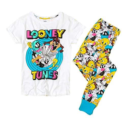 Looney Tunes Cuffed Frauen Pyjama-Set Character Groß (16-18)