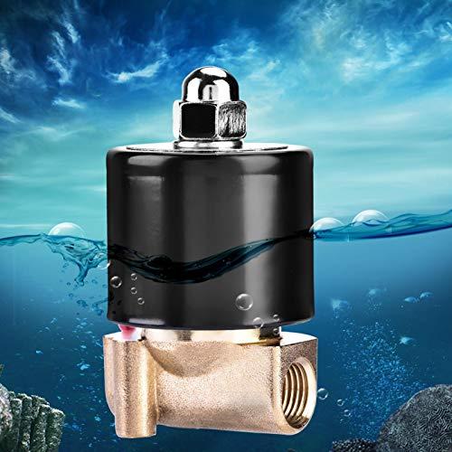 Válvula de agua de dos vías Válvula solenoide eléctrica para controles líquidos...