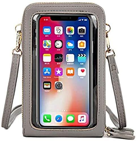 Bolso bandolera para teléfono móvil con pantalla táctil de menos de 6,5 pulgadas, gris (Gris) - YDYG-TJKTSQ-3
