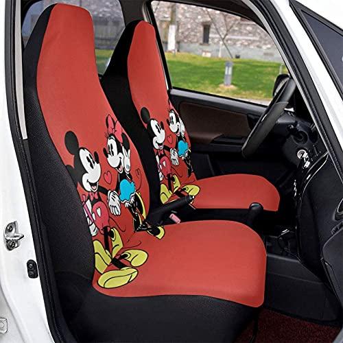Topolino Minnie Cartoon Mouse Car Seat Copre Morbido Confortevole ed Elastico Seggiolino Auto Custodia Protettiva In Poliestere, Adatto Per La...