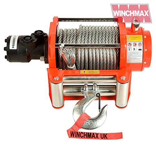 WINCHMAX Hydraulische Winde mit Stahlseil, 9071 kg, Orange