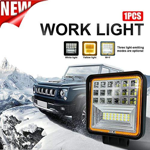 42W LED LED Arbeitslicht Angel Eye LED Combo Licht Scheinwerfer LED Spot Licht für Off Road Heavy Duty Truck Traktor 4x4 SUV UTV ATV Boot