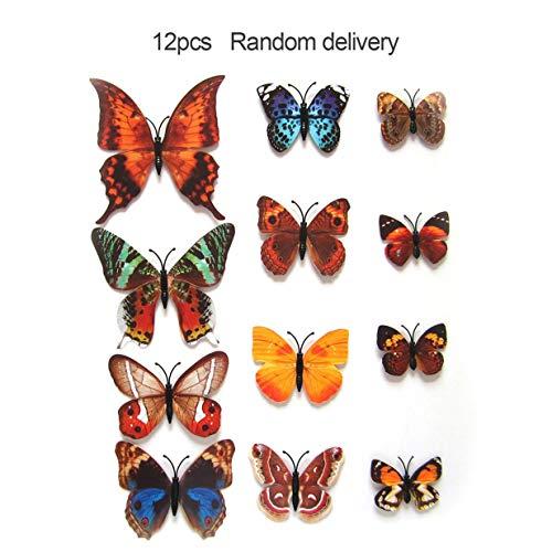 Preisvergleich Produktbild IFEN 12 Teile / Satz 3D PVC Magnet Schmetterlinge DIY Wandaufkleber Kühlschrankmagnete Abnehmbare Kunst Aufkleber für Heimtextilien - Blau
